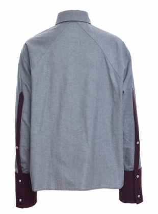 Young British Designers: Contrast BIB BOY SHIRT by Harriet Eccleston