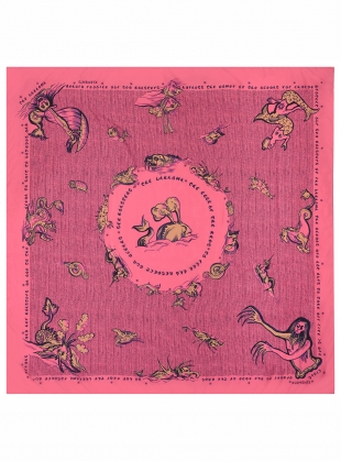 Young British Designers: GIANT SCARF. Candy Floss Sea Monsters by Klements