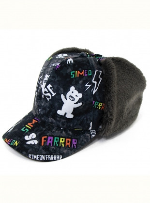 Young British Designers: Black Ear Muff CAP. Illustrated by Simeon Farrar