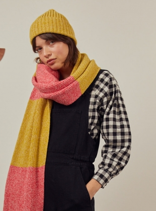 Young British Designers: FREYA SCARF. Yellow/Pink by SIDELINE