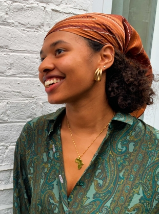Earth With Honeybee Silk Scarf: Medium by jasmine coe