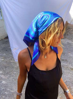 Young British Designers: RIPPLES IN THE RIVER SILK SCARF- Medium- sold out by jasmine coe