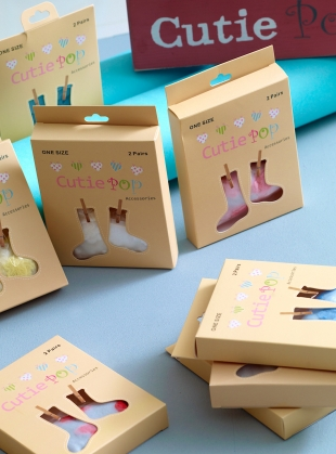Young British Designers: Blue Butterfly Pop Socks by Cutie Pop