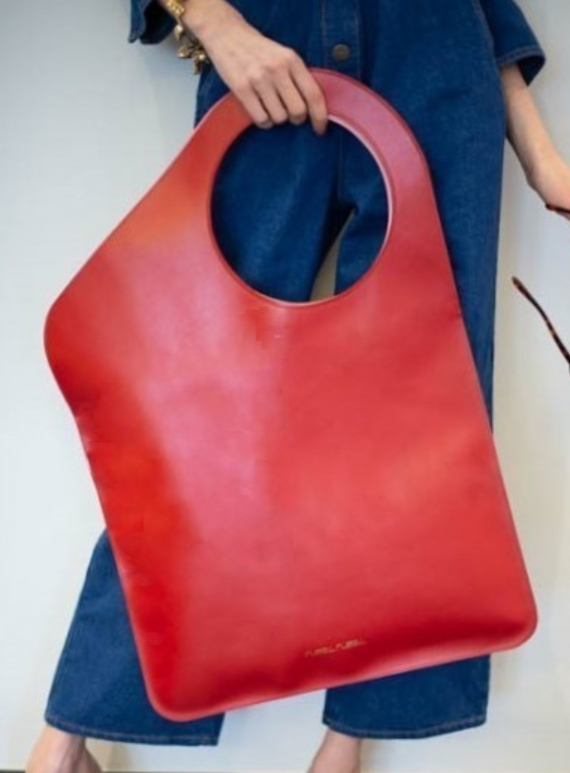 Young British Designers: Red/Rose Petal Bag. Regular - Back In Stock by Russell Russell