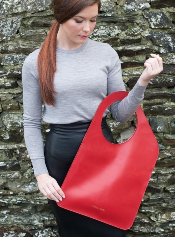 Young British Designers: Red/Rose Petal Bag. Regular by Russell Russell