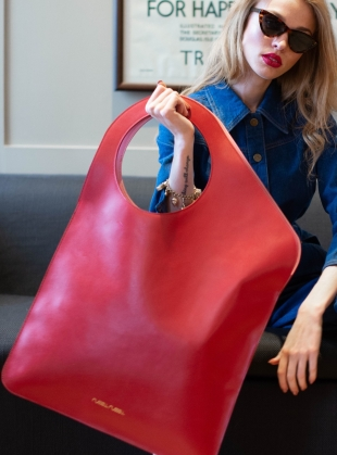 Red/Rose Petal Bag. Large - Sold Out by Russell Russell