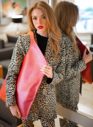Young British Designers: Red/Rose Petal Bag. Large - Sold Out by Russell Russell