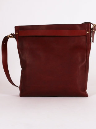 Young British Designers: Slouch Tote. Plum Leather by Kate Sheridan