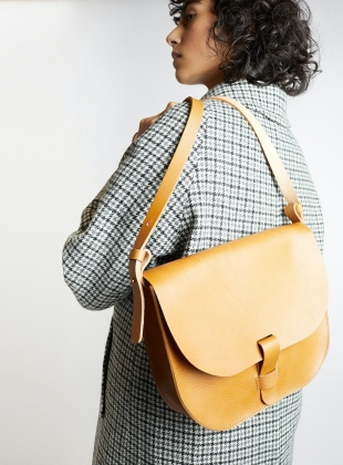 Caramel Large Loop Bag by Kate Sheridan