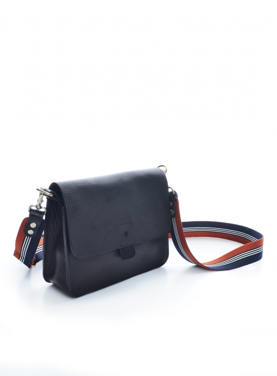 Young British Designers: BLACK TAB BAG (with pocket) - Last one by Kate Sheridan