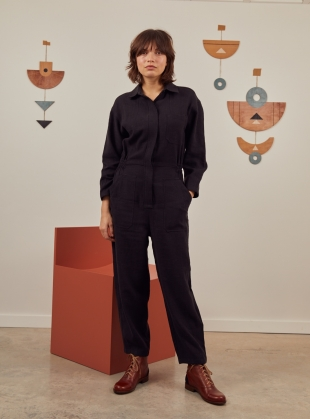 EVA Black BOILERSUIT by SIDELINE