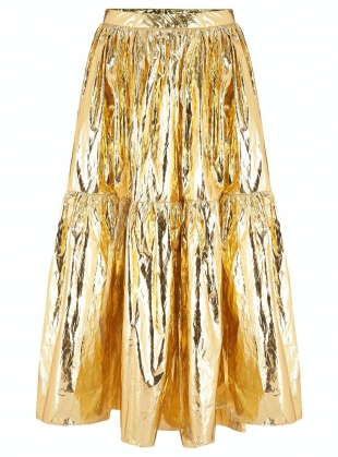 EIDOTHEA SKIRT. Disco Gold  by Klements