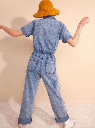 Young British Designers: DANNY BOILERSUIT. Acid Wash by LF Markey