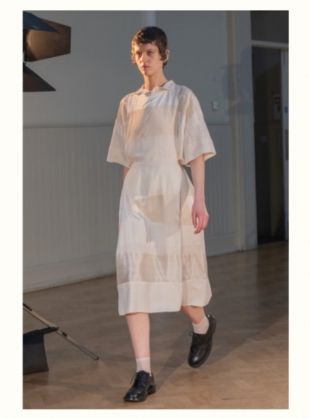 Young British Designers: THE PATCHWORK STRIPE SKIRT by Phoebe English