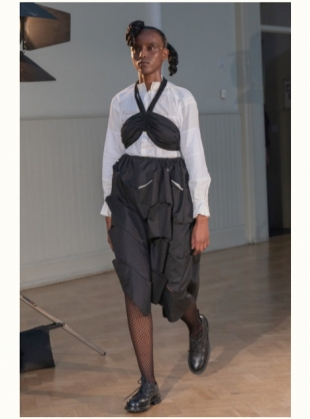 Young British Designers: WIGGLY SKIRT. Reclaimed Cotton by Phoebe English