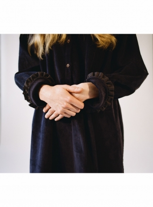 Young British Designers: ANTHEA DRESS in Dark Navy  by Cawley