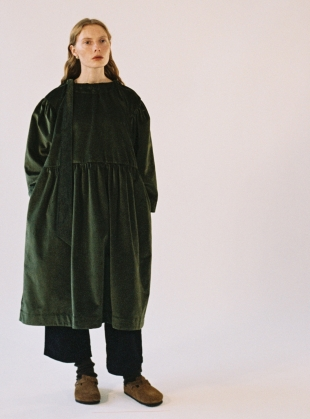 MARY MOSS GREEN VELVET DRESS  by Cawley