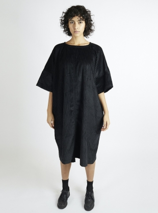 Edie Oversized Black Cord Dress by Kate Sheridan