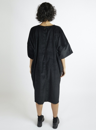 Young British Designers: Edie Oversized Black Cord Dress by Kate Sheridan