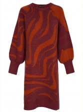 WHITNEY KNIT DRESS. Berry - sold out