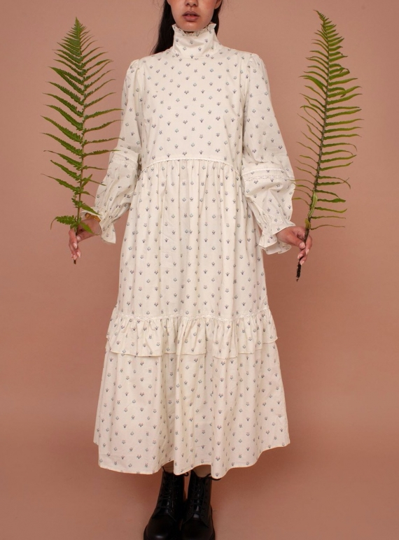 Young British Designers: LUCERNE DRESS. Winter Ditsy by Meadows