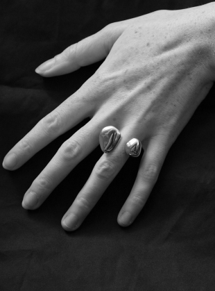 Young British Designers: The Ring of Two Voices in Eco-Silver by Shape of Sound