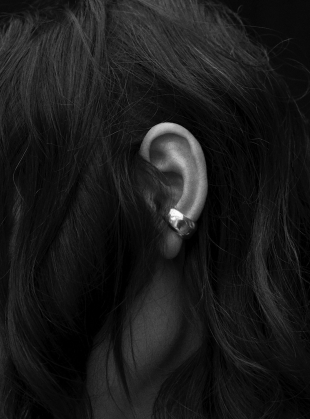 Cave & Echo Ear Cuff in Eco Silver - last one by Shape of Sound