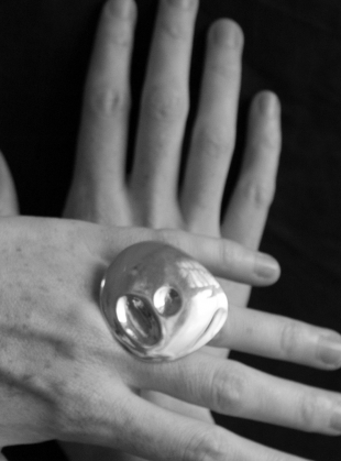 Young British Designers: The Painter's Ring in Eco Silver by Shape of Sound