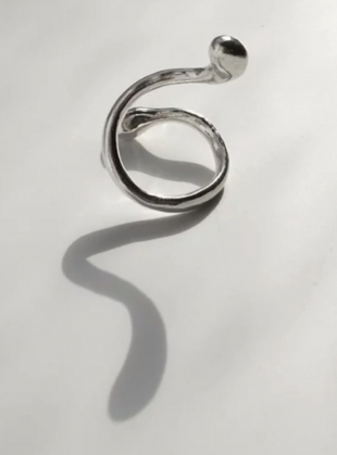 Young British Designers: The Restless Ring in Eco Silver - Last one by Shape of Sound