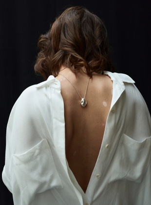 Young British Designers: The Echo Pendant in Eco Silver by Shape of Sound