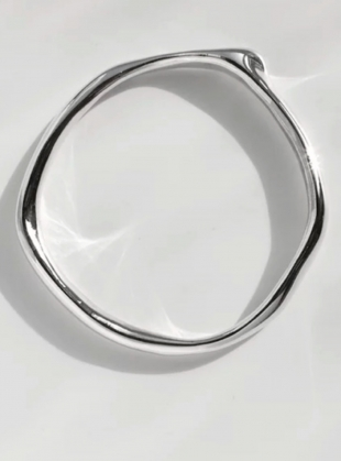 Young British Designers: The Shape of Sound Bangle in Eco Silver by Shape of Sound