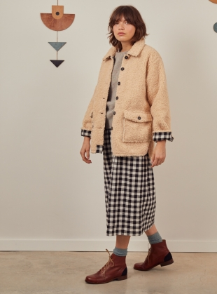WINIFRED JACKET. Faux Shearling by SIDELINE