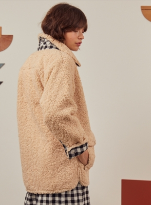 Young British Designers: WINIFRED JACKET. Faux Shearling - Sold out by SIDELINE