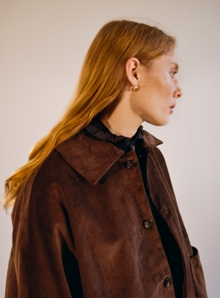 AVIS CONKER BROWN CORD JACKET by Cawley
