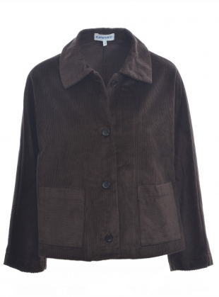 Young British Designers: AVIS CONKER BROWN CORD JACKET by Cawley