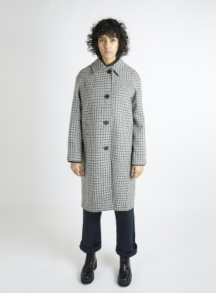 The Louis Coat Heritage Check Wool Coat by Kate Sheridan