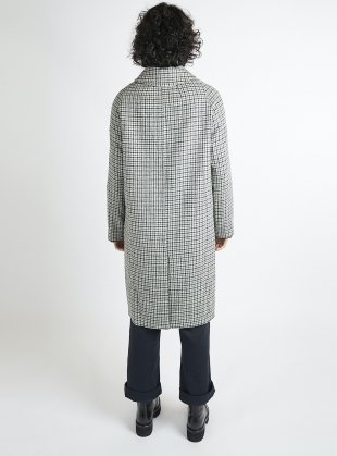 Young British Designers: The Louis Coat Heritage Check Wool Coat - last one (M/L) by Kate Sheridan