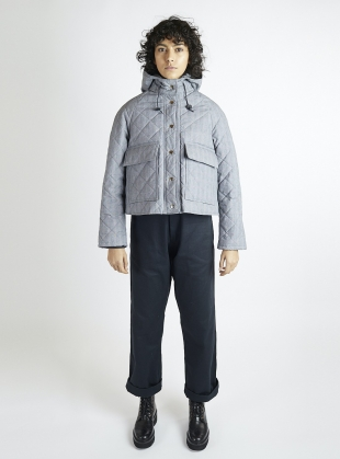 Prince of Wales Quilted & Waxed Pop Jacket by Kate Sheridan