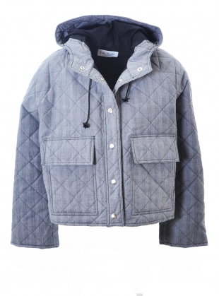 Young British Designers: Prince of Wales Quilted & Waxed Pop Jacket by Kate Sheridan