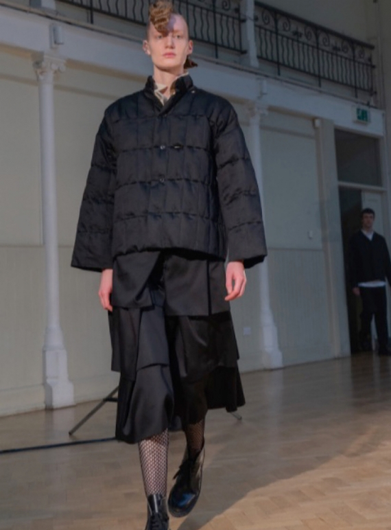 Young British Designers: THE PUFFY QUILTED JACKET. Reclaimed Fabric - Last one (M/L) by Phoebe English