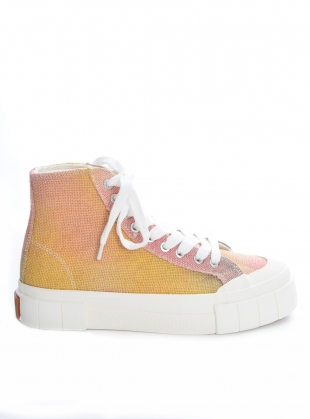 PALM Jute High Top Trainers. Pink/Yellow  by Good News