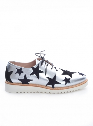 INTERGALACTIC Silver & Stars Brogue - last pair 36 by Rogue Matilda