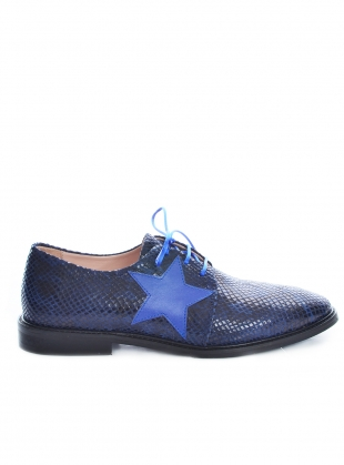 STARSTRUCK Navy Snakeskin Brogues by Rogue Matilda