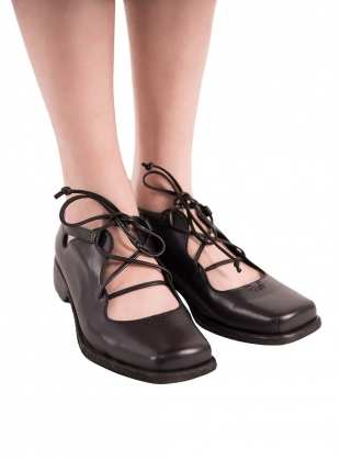 OLIVIA SHOES. Black Leather - last pair (40) by Renli Su