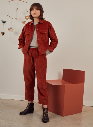 HAP SHIRT JACKET. Rust by SIDELINE