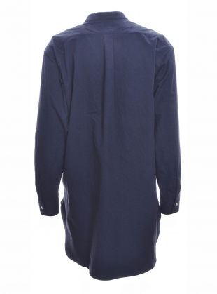 Young British Designers: INES SHIRT in Dark Navy by Cawley