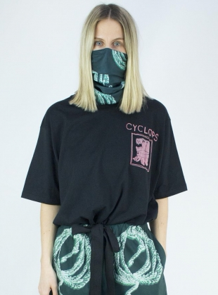 Young British Designers: Organic Cotton Black CYCLOPS TEE by Klements