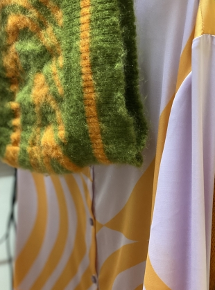 Young British Designers: MOHAIR SWIRL KNIT Bustier. Moss & Solero by Fiona ONeill
