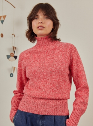 Young British Designers: KEERE JUMPER. Pink Marl by SIDELINE
