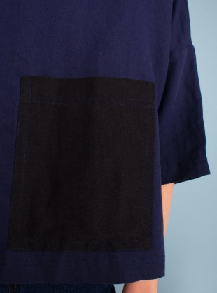 Young British Designers: HARLEY TOP. Navy and Black by LF Markey